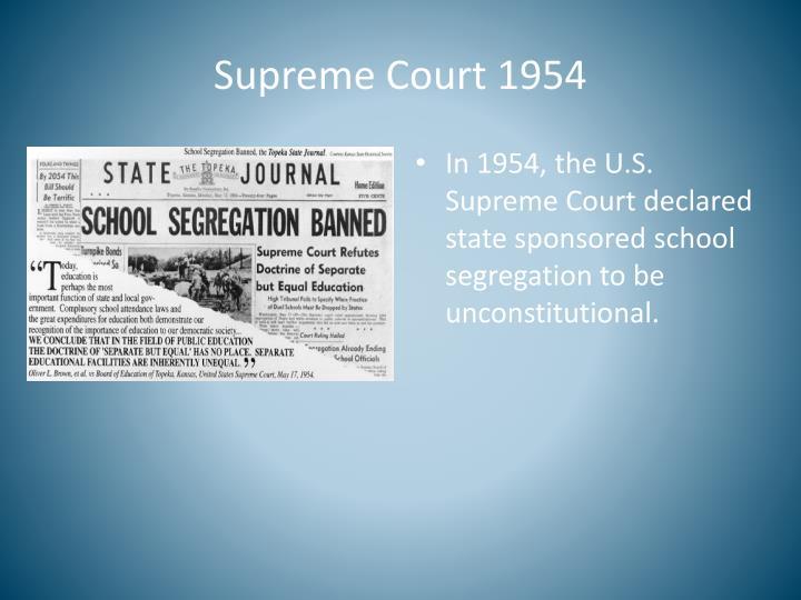 Supreme Court 1954