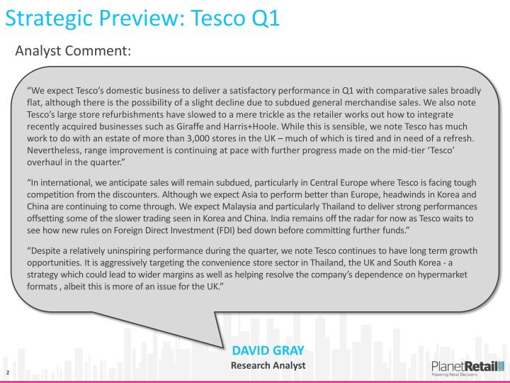Strategic Preview: Tesco Q1