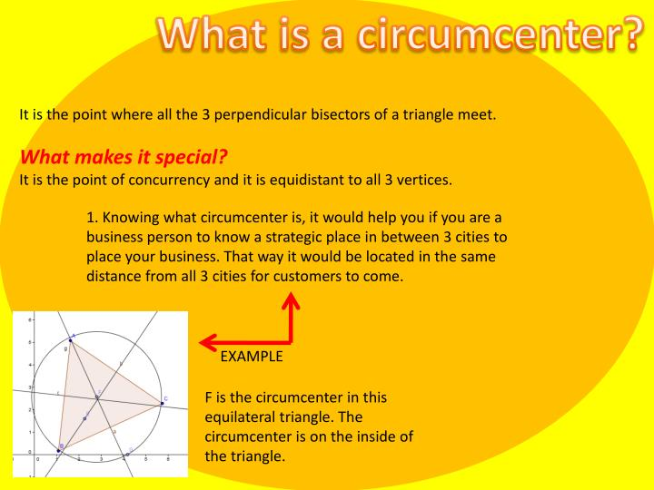 What is a circumcenter