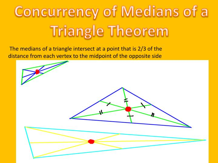 Concurrency of Medians of a  Triangle Theorem