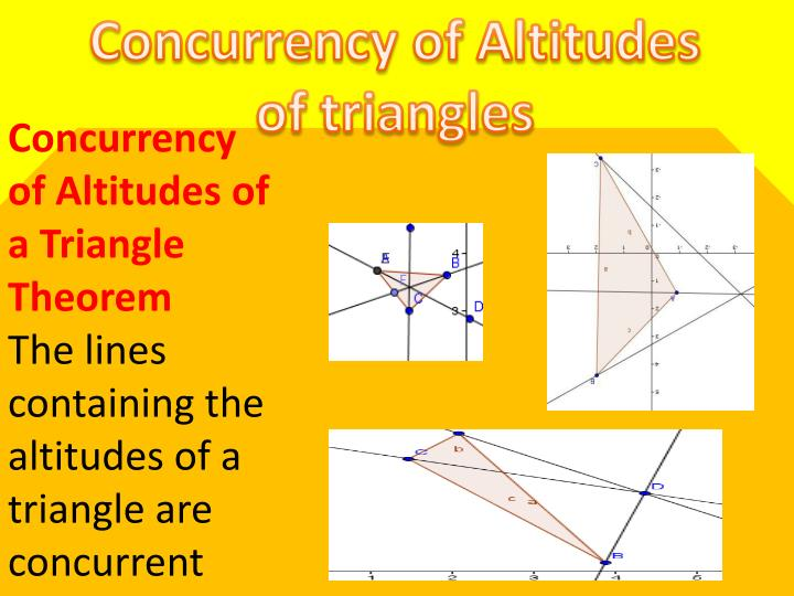 Concurrency of Altitudes