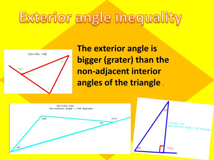 Exterior angle inequality