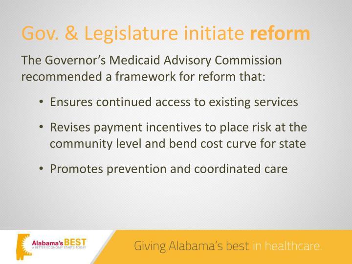 Gov. & Legislature initiate