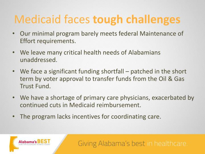 Medicaid faces