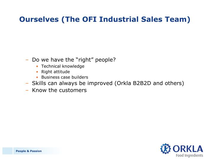 Ourselves (The OFI Industrial Sales Team)
