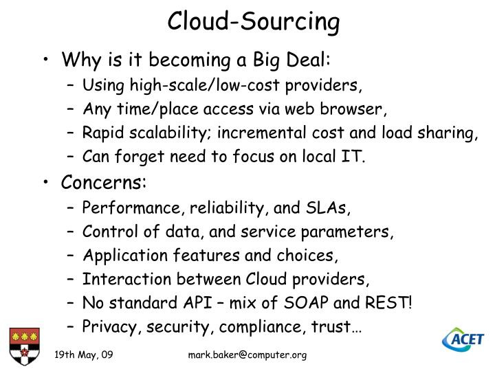 Cloud-Sourcing
