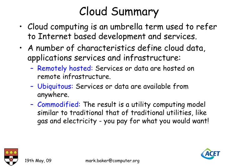 Cloud Summary