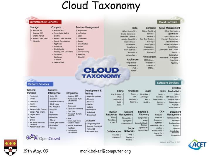 Cloud Taxonomy