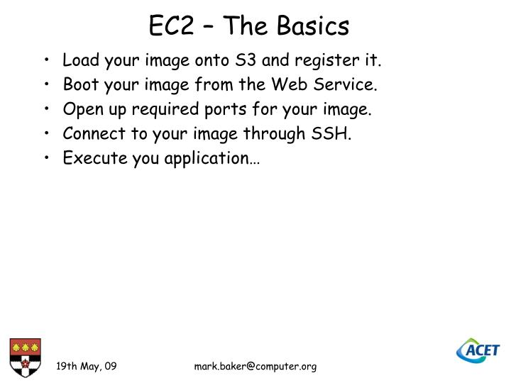 EC2 – The Basics