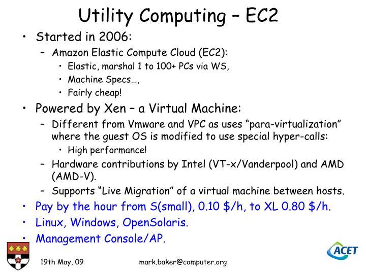 Utility Computing – EC2