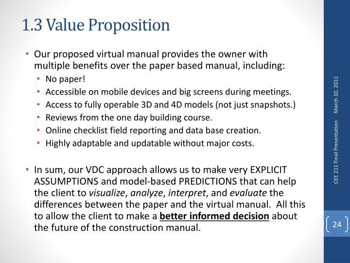 1.3 Value Proposition