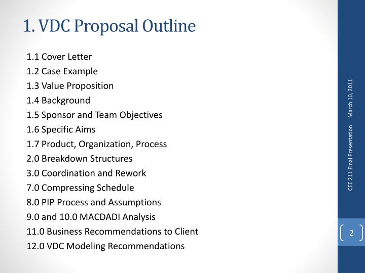 1 vdc proposal outline