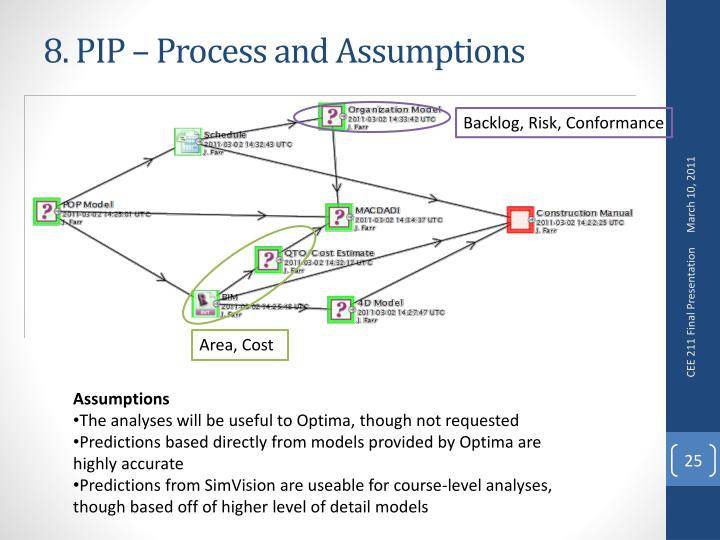 8. PIP – Process and Assumptions