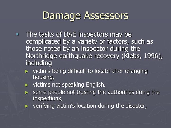 Damage Assessors