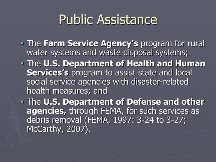Public Assistance