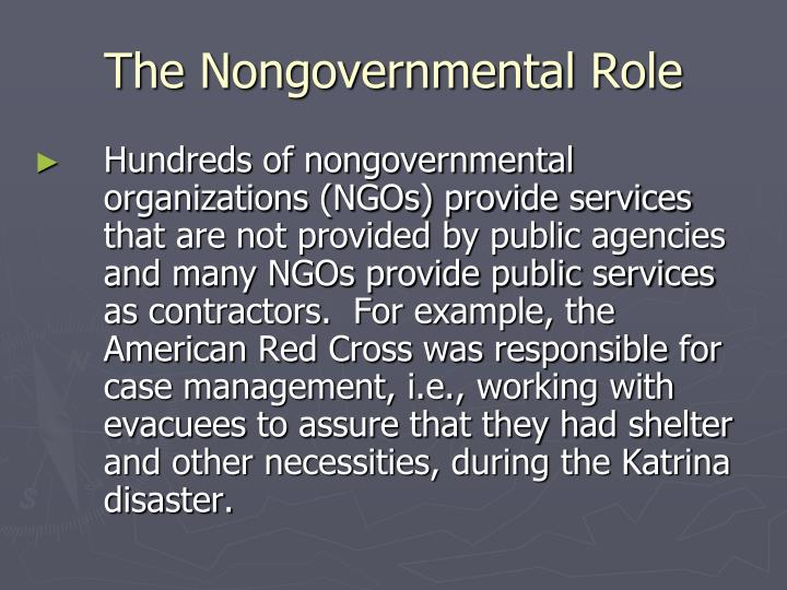The Nongovernmental Role