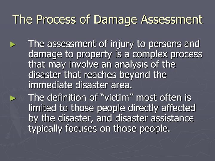 The Process of Damage Assessment