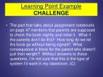 learning point example challenge