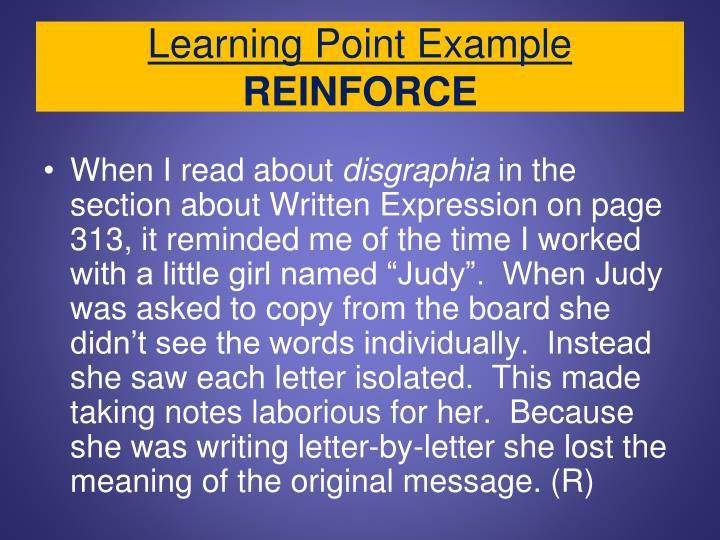 Learning Point Example