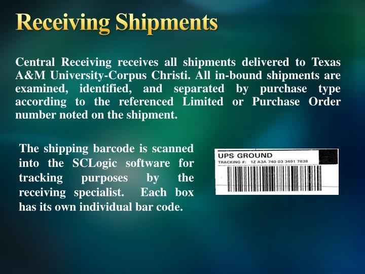 Receiving Shipments