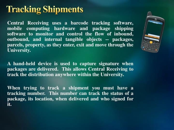 Tracking Shipments