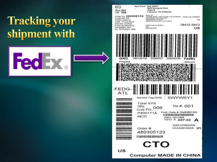 Tracking your shipment with