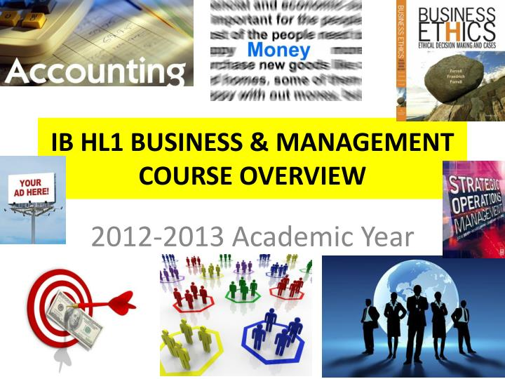 Ib hl1 business management course overview