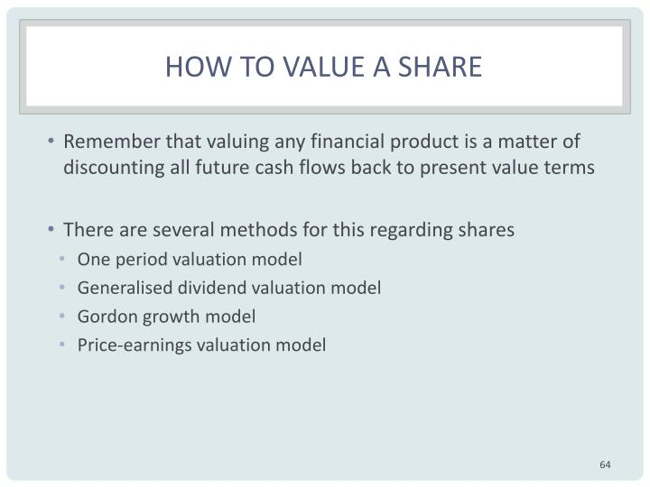 How to value a share