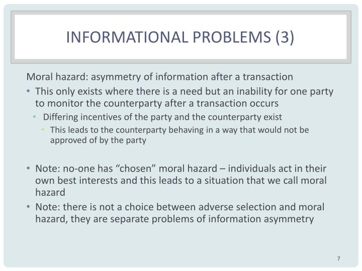 Informational problems (3)