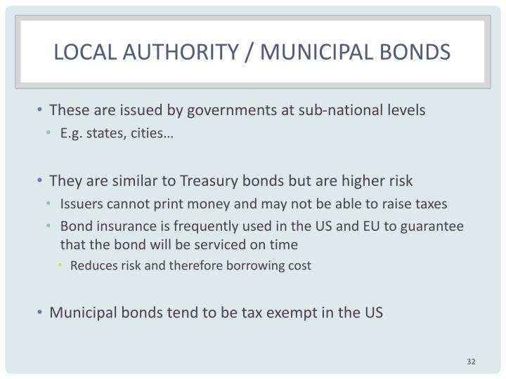 Local authority / municipal bonds