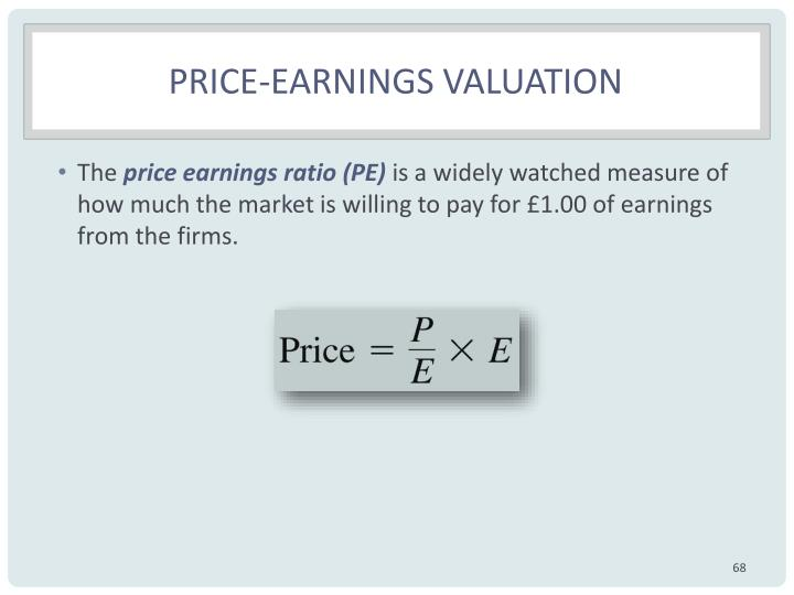 Price-earnings valuation
