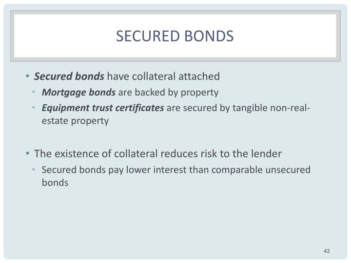 Secured bonds