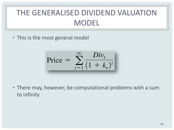 The generalised dividend valuation model