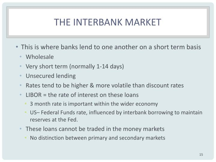 The Interbank market