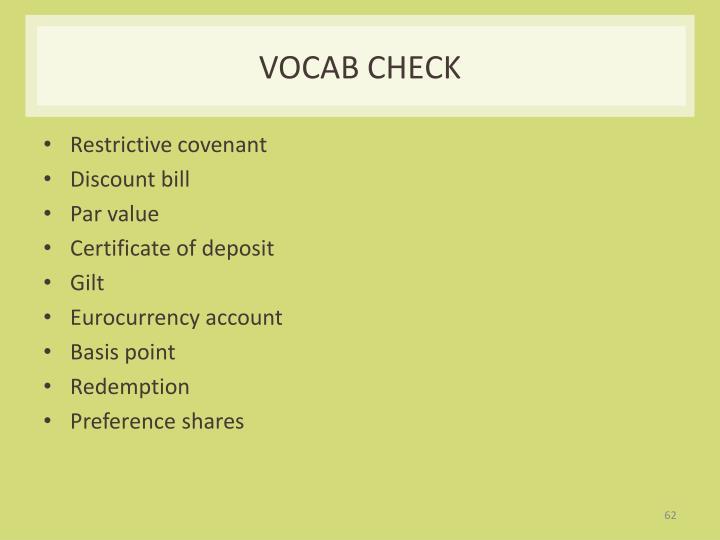 Vocab check