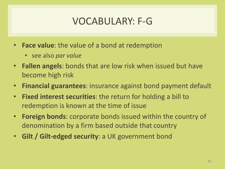 Vocabulary: F-G