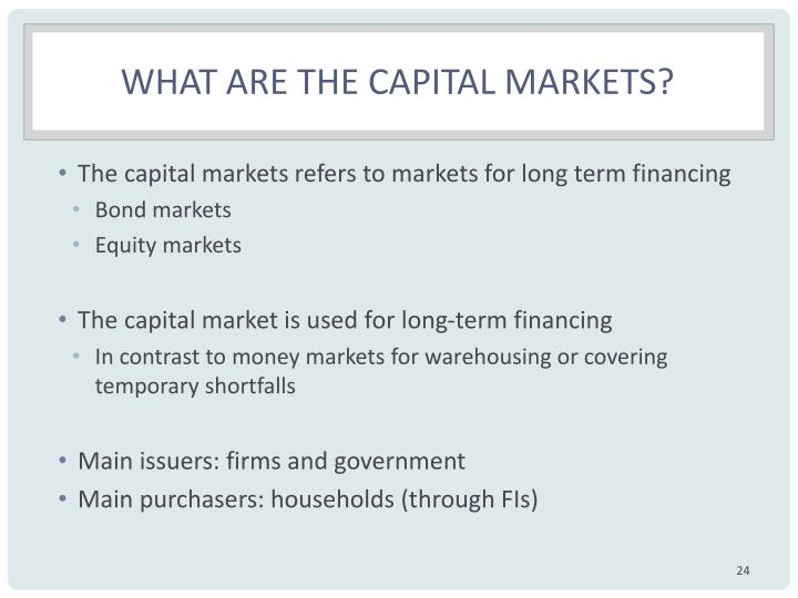 What are the capital markets?