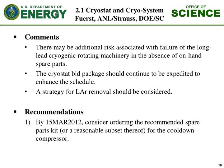 2.1 Cryostat and