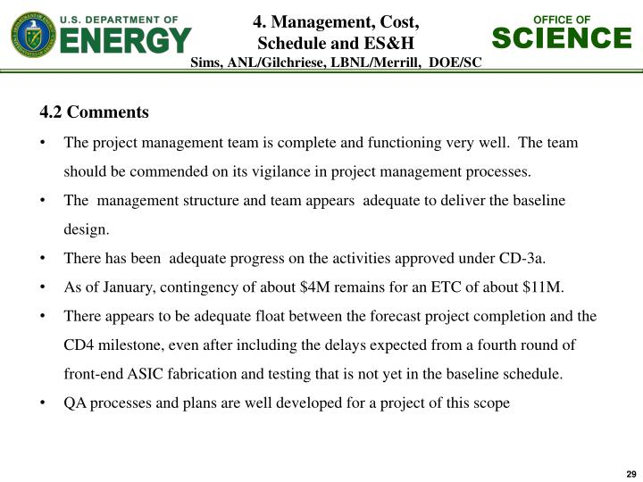 4. Management, Cost,