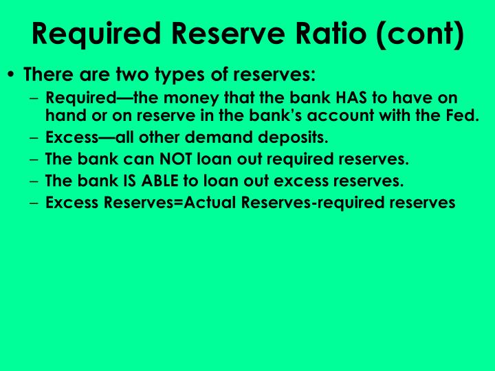 Required Reserve Ratio (