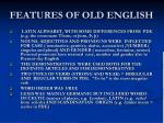 features of old english