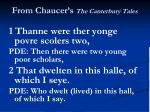 from chaucer s the canterbury tales