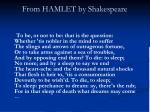 from hamlet by shakespeare