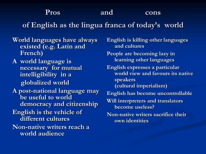 World languages have always existed (e.g. Latin and French)