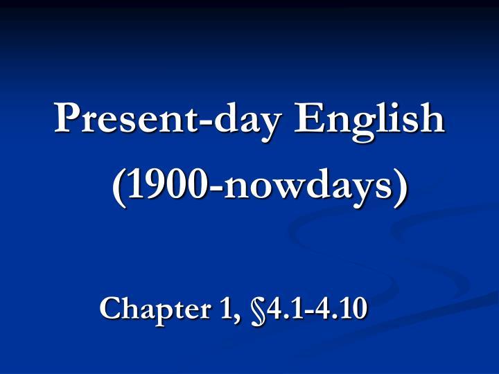 Present-day English