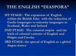 the english diaspora