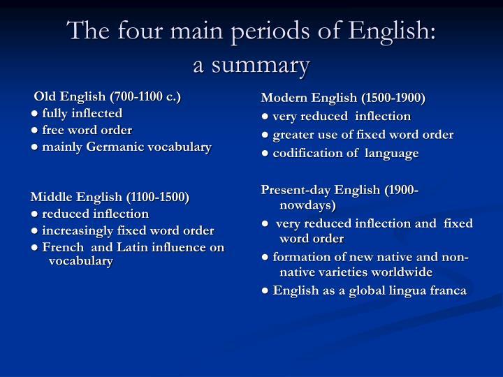 Old English (700-1100 c.)
