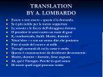 translation by a lombardo