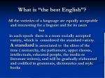 what is the best english