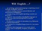 will english